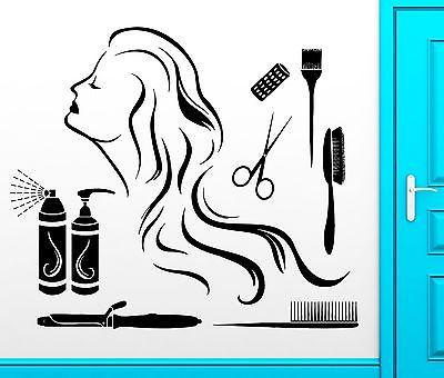 Wall Sticker Vinyl Decal Hair Spa Beauty Salon Barbershop Cool Decor Unique Gift (z2467)