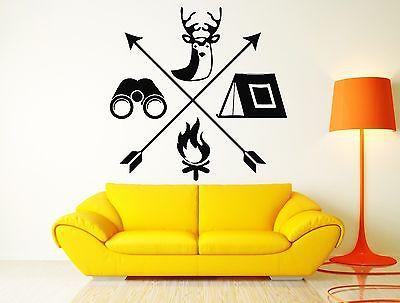 Vinyl Decal Wall Sticker Hunt Hunting Hobby Deer Tourism Travel Camping Cool Boy's Room Decor Unique Gift (z2649)