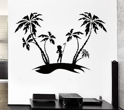 Wall Decal Isle Palms Tourism Travel Sexy Girl Vinyl Stickers Art Mural Unique Gift (ig2555)