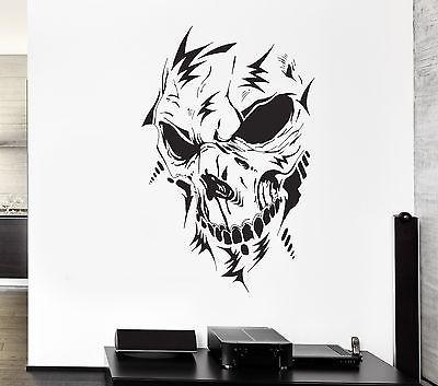 Wall Decal Monster Horror Skull Fear Darkness Skeleton Vinyl Stickers (ed070)