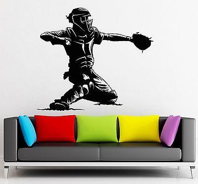 Wall Sticker Vinyl Decal Baseball Player Sports Man Fan Decor Unique Gift (ig2232)