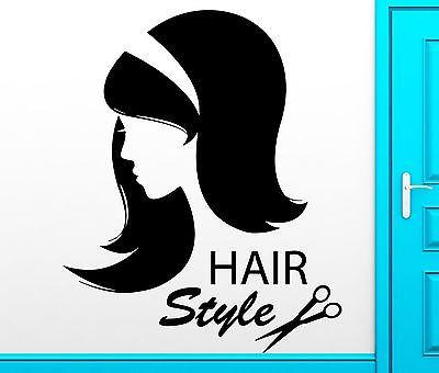 Wall Sticker Vinyl Decal Hair Style Barbershop Hair Salon Decor (z2509)