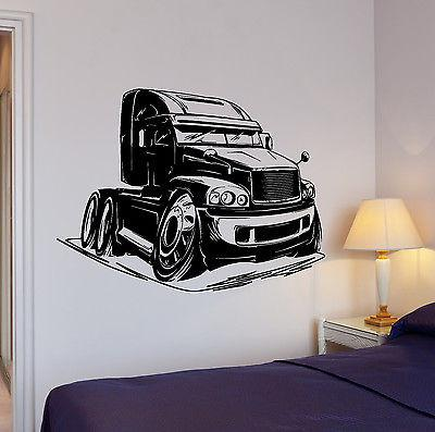 Wall Decal Truck Car Body Transport Waggon Wheel Mural Vinyl Stickers Unique Gift (ed077)