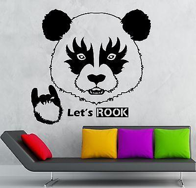 Wall Sticker Vinyl Decal Panda Hard Rock Music Fan Decor Unique Gift (ig2110)