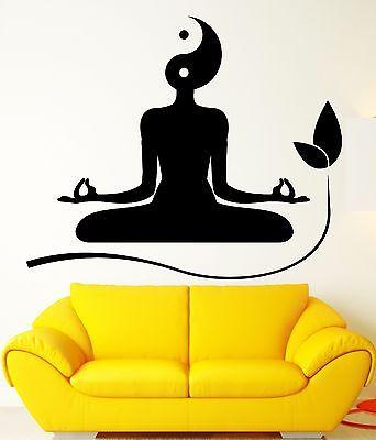 Wall Decal Yoga Meditation Zen Buddhism Yin Yan Vinyl Stickers Art Mural Unique Gift ig2579