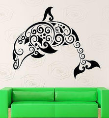 Dolphin Vinyl Decal Marine Ocean Bathroom Pattern Decor Wall Stickers Unique Gift (ig2315)
