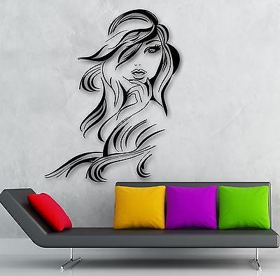 Wall Sticker Vinyl Decal Hot Sexy Girl Hair Beauty Salon Hairdresser Unique Gift (ig1872)