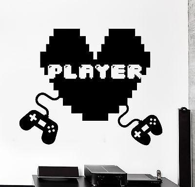 Wall Decal Gaming Joystick Joypad Gamepad Player Gamer Vinyl Decal Unique Gift (z3106)