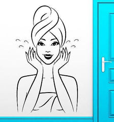 Oriental Girl Vinyl Decal Hot Sexy Bathroom Wash Water Wall Stickers Unique Gift (ig2343)