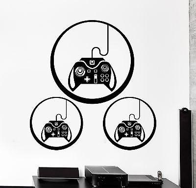 Wall Decal Gaming Joystick Joypad Gamepad Controller Gamer Vinyl Decal Unique Gift (z3110)