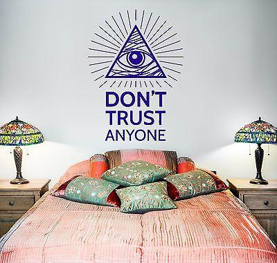 Wall Vinyl Pyramid Eye Of Providence Masons Mural Vinyl Decal Unique Gift (z3373)