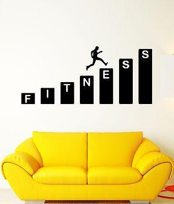 Wall Decal Fitness Sport Health Movement Human Motivation Vinyl Stickers Unique Gift (ed160)
