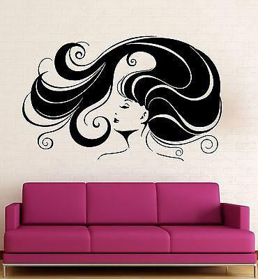 Wall Sticker Vinyl Decal Hot Sexy Girl Hair Hairstyle Beauty Salon Unique Gift (ig1927)