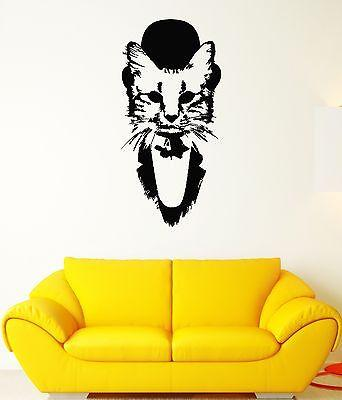 Wall Decal Cat Tuxedo Beautiful Animal Mural Vinyl Stickers (ed004)