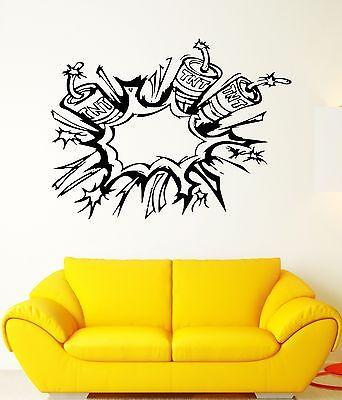 Wall Decal Dynamite Blast Explosives TNT Bomb Grenade Vinyl Stickers Unique Gift (ed300)
