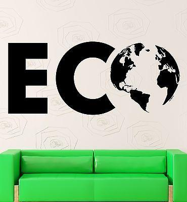 Wall Stickers Vinyl Decal Eco Environmental Earth Ecology Nature Life Unique Gift (ig2306)