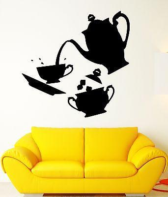 Tea Time Vinyl Decal Coffee Kitchen Decor Home Dining Room Wall Sticker Unique Gift (ig2336)