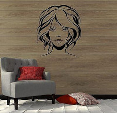 Sexy Woman Beauty Salon Spa Hair Barber Wall Sticker Vinyl Srickers Unique Gift (ig2093)