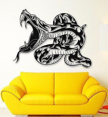 Snake Wall StickersTribal  Reptile Animal Venomous Vinyl Decal Unique Gift (ig691)