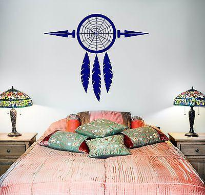 Wall Vinyl Dreamcatcher Dream Catcher Talisman Native American Unique Gift (z2807)