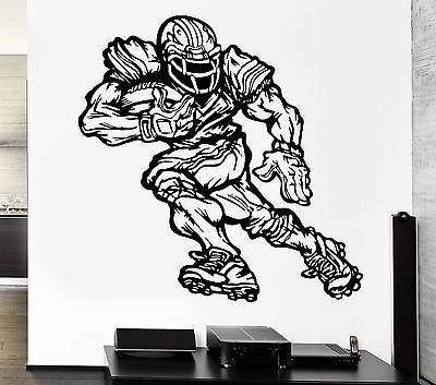 Wall Decal Sports Game American Football Player Running Vinyl Stickers Unique Gift (ed297)