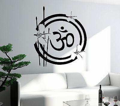 Lotus Wall Decal Buddha Buddhism Relaxation Meditation Zen Decor Unique Gift (z2661)