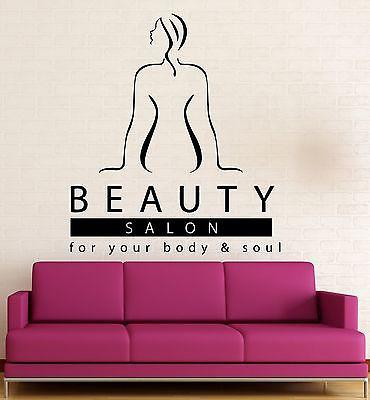 Wall Stickers Vinyl Decal Beauty Salon Body Massage Relax Spa Sexy Girl Unique Gift (ig1701)