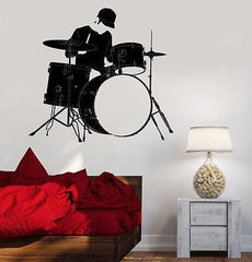 Wall Vinyl Music Drum Drummer Guaranteed Quality Decal (z3498)