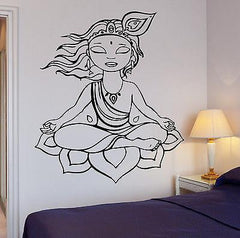 Wall Sticker Yoga Buddha Buddhism Om Zen Cool Art Bedroom (z2583)