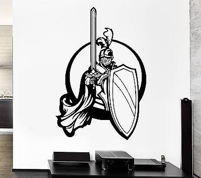 Wall Decal Knight Warrior War Battle Weapons Duel Valor Vinyl Decal Unique Gift (ed304)