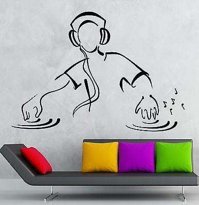 Wall Stickers DJ Music Party Night Club Dance Floor Vinyl Decal (ig2467)