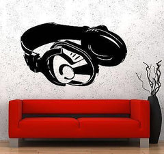 Wall Vinyl Music Headphones Head Phones Guaranteed Quality Decal (z3532)