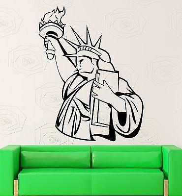 Statue of Liberty Wall Stickers USA Monument Patriotism Vinyl Decal Unique Gift (ig661)