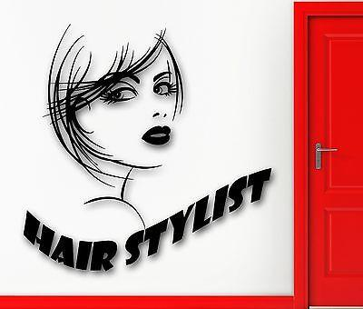 Wall Sticker Vinyl Decal Hot Sexy Girl Hair Salon Stylist Beauty Spa (ig2161)
