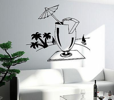 Wall Decal Bar Drink Alcohol Cool Funny Decor For Living Room Unique Gift (z2637)