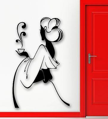 Wall Sticker Vinyl Decal Hot Sexy Girl Geisha Tea Ceremony Kitchen (ig2140)