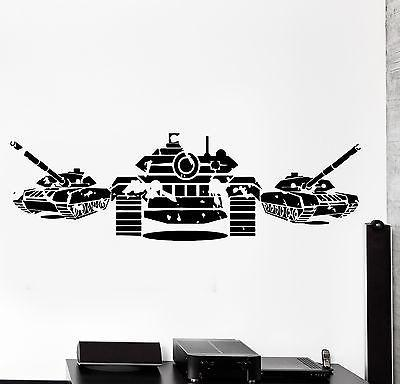 Wall Vinyl Tanks Army War Military Forces Guaranteed Quality Decal Unique Gift (z3445)