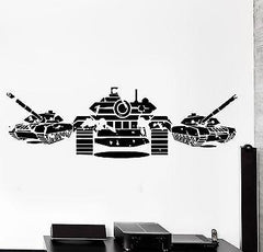 Wall Vinyl Tanks Army War Military Forces Guaranteed Quality Decal (z3445)