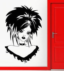 Teen Girl Vinyl Decal Gothic Sexy Beautiful Hairstyle Wall Stickers Unique Gift (ig2341)