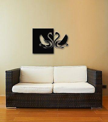 Wall Stickers Vinyl Decal Beautiful Swan Bird Room Decor Unique Gift (ig334)