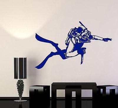 Wall Vinyl Navy SEAL Diver Saboteur Guaranteed Quality Decal (z3434)