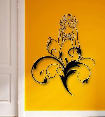 Wall Stickers Vinyl Decal Sexy Girl Dress Abstract Decor Room (ig1775)