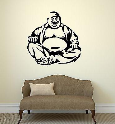 Ordinaire Happiness Laughing Buddha Amulet Buddhism Wall Stickers Vinyl Decal Unique  Gift (ig2094)