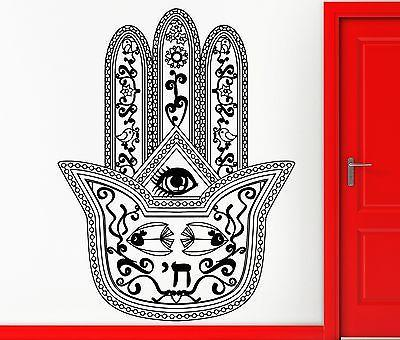 Wall Sticker Vinyl Decal Hamsa Amulet Talisman Cool Living Room Unique Gift (z2414)