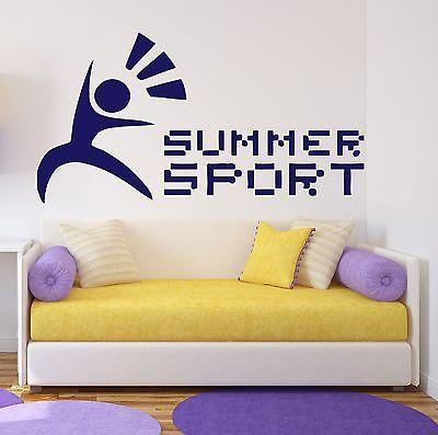 Wall Stickers Vinyl Decal Morning Gymnastics Sport Has Always Engage Unique Gift (n246)
