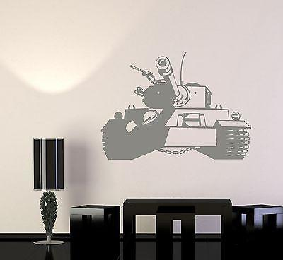 Wall Vinyl Tank Military Forces War Guaranteed Quality Decal (z3432)