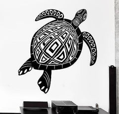 Wall Decal Animal Turtle Tortoise Ornament Tribal Mural Vinyl Decal (z3174)