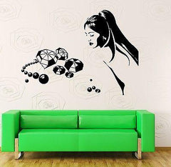 Wall Decal Sexy Beautiful Girl Diamonds Love Vinyl Sticker (z3600)