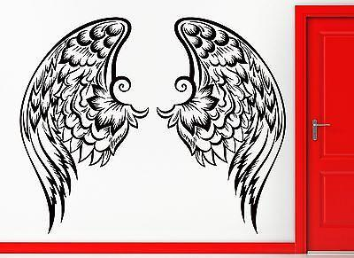 Wall Sticker Vinyl Decal Wings Freedom Cool Urban Decor Unique Gift (z2418)