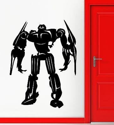 Wall Sticker Vinyl Decal Robot for Kids Nursery Baby Room Decor Unique Gift (ig2169)